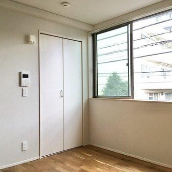 東向き窓の近くにある扉は。