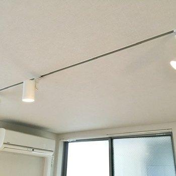 天井のスポットライトがお部屋の雰囲気に深みを加えます。