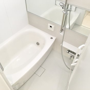 ゆったりとした浴槽でリラックス。ミストサウナ等の機能も。