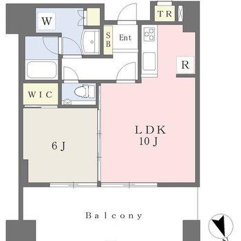 広々とした1LDKタイプのお部屋になります。