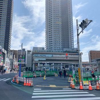 再開発の進む国分寺駅です