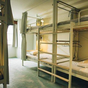 1部屋最大8人収容のお部屋です。
