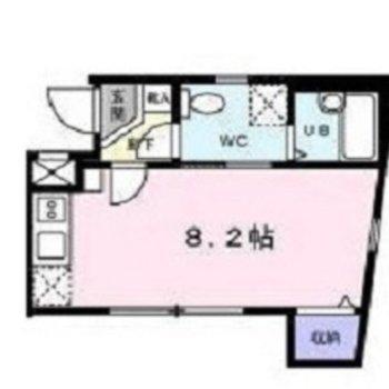 約8.2帖の居室がある間取りです。