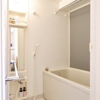 浴室はシンプルな造り。乾燥機付きですよ。