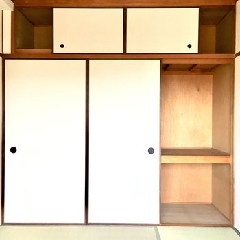 和室の収納はふすまを開けるとお部屋から出られなくなる仕組み。