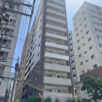 マンションは13階建てです。