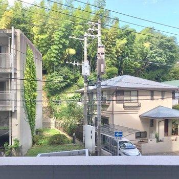 赤坂公園の緑と住宅街の街並み。穏やかに暮らせそう。