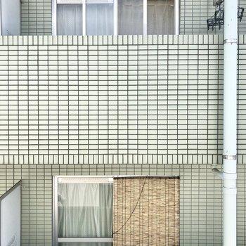 眺望はお隣のマンションのベランダです。