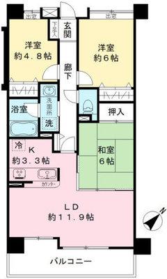 聖蹟桜ヶ丘和田ハウス S棟の間取り