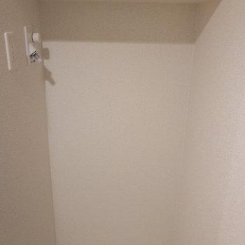 玄関横に洗濯機置き場※写真は1階の反転間取り別部屋のものです