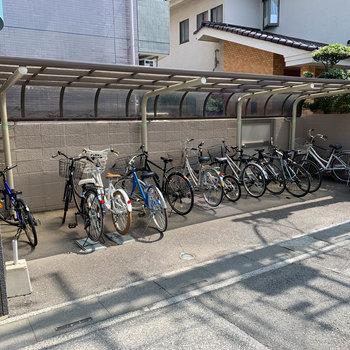 駐輪場、屋根あります