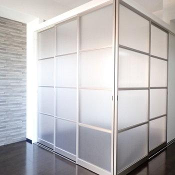 寝室のできあがり!半透明なので、光が通ります。