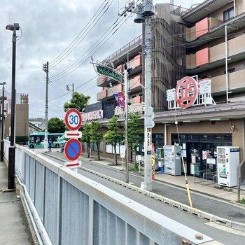 駅前のスーパー。日々のお買い物はこちらで。