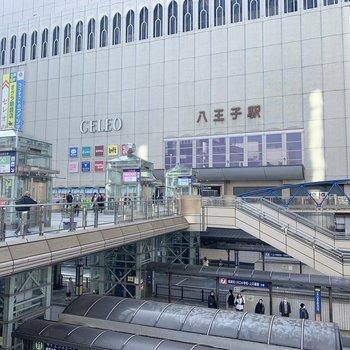 八王子駅周辺には商業施設がたくさんあります。