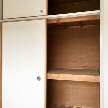 【和室】たっぷり押入れサイズの収納◎※写真は3階の反転間取り別部屋のものです