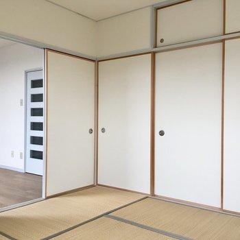 【和室】そして南向きの約6帖の和室!※写真は3階の反転間取り別部屋のものです