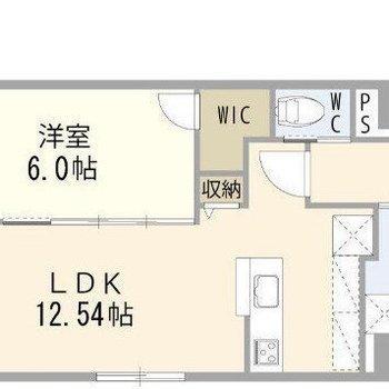 縦長のLDKは家具のレイアウトがしやすいのがポイント◎