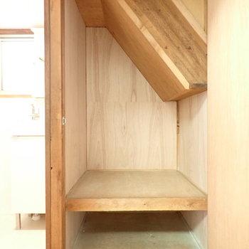 階段下収納ありました!