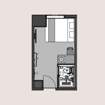 約14㎡のお部屋です。
