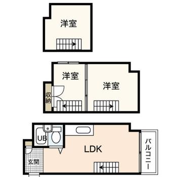 なななんと!3層ロフトのお部屋です!!!!