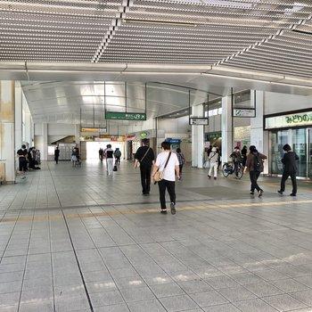 辻堂駅構内は開けていました。