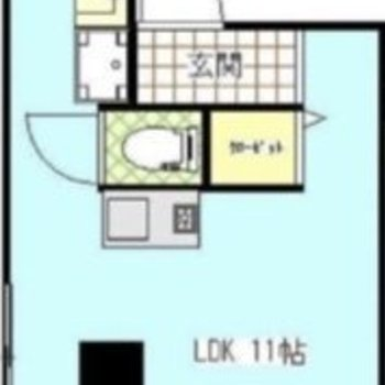 LDK11帖とゆったりめの居室になっています。