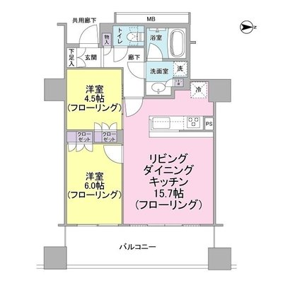 プレサンスレジェンド堺筋本町タワーの間取り