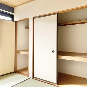 【和室】押入れには布団などもしまえます。