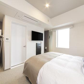 ベッドの横幅は160cm。とても深い眠りにつけそうです。