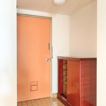 玄関は普通サイズ。靴好きさんだと少し足りないかな?