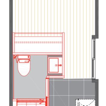 オープンクローゼットは居室から使えますね。