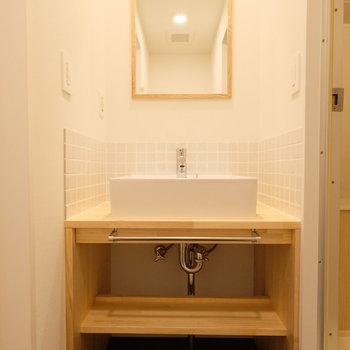 【イメージ】爽やかなデザインの独立洗面台がかわいいのです