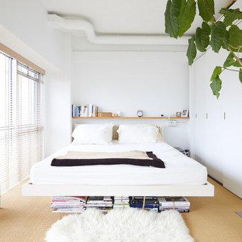 ダブルサイズのベッドも置ける程のスペースがあります。