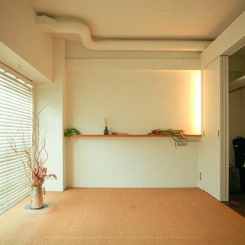 ダブルサイズのベッドも置ける程のスペースがあります。※写真は前回募集時のものです