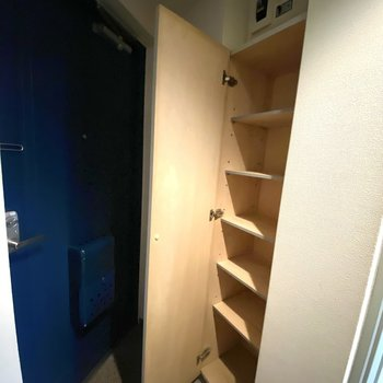 大きめの棚が付いてます。