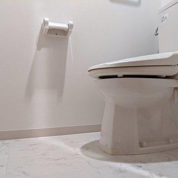 ゆったりとしたスペースのトイレです。