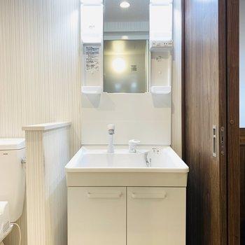 入ってすぐ左には洗面所。