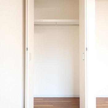 高さがあるので、けっこう入りそう!※写真は1階別部屋、同間取りのものです。