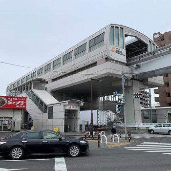 最寄りの駅、桜街道。多摩モノレールの駅です。