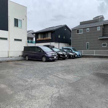 敷地内に駐車場もあります。(空き要確認)