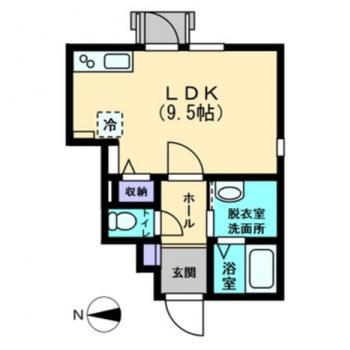 1人暮らしに程よい、1LDKのお部屋。