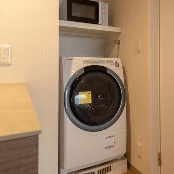 ドラム式洗濯機があるのは嬉しいポイントですよね。