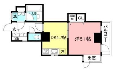 ライオンズマンション横浜ポートビューの間取り