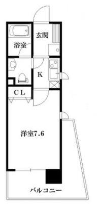 インベスト神戸エアフロント503号室の間取り