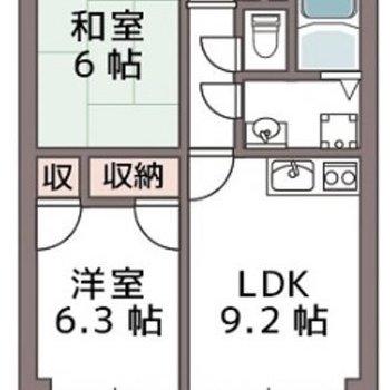 和室のあるお部屋です。