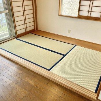 【2階洋室・和室】きっちりとした印象の綺麗な畳。休日はひなたぼっこを楽しみたいなあ。