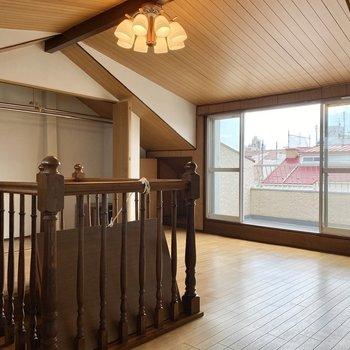 【3階納戸】開放感のあるロッジの様な空間です。