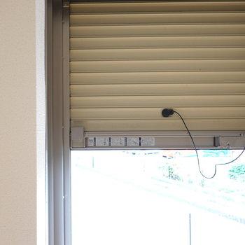 窓はシャッター付きなので防犯性も高められます。