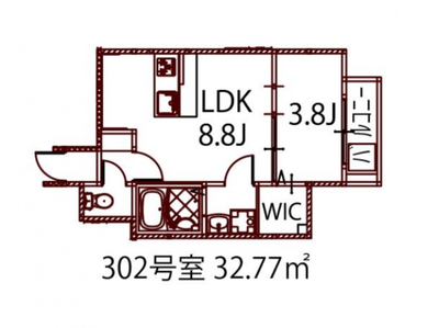 リノリノアパートメント広島エキキタの間取り
