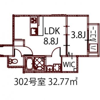 充実した1人暮らしができそうな、1LDKのお部屋。